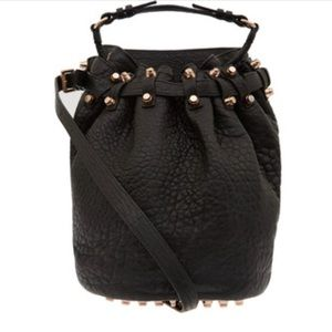 Alexander Wang Diego Bucket Bag Black / Rose Gold!